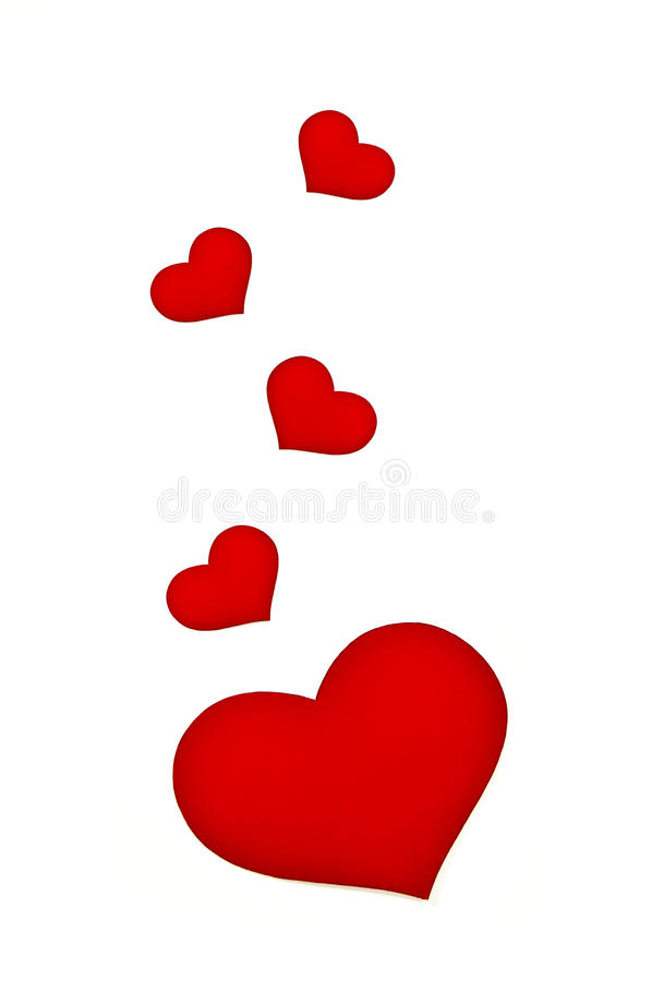 Mooi rood hart stock foto's