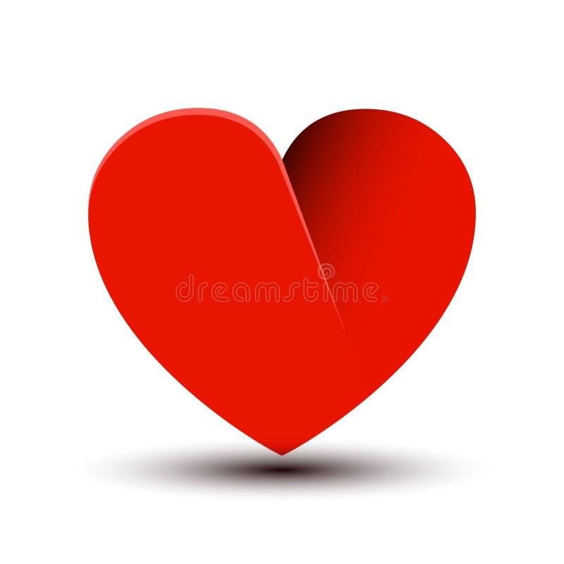 Mooi rood hartteken - vector stock illustratie