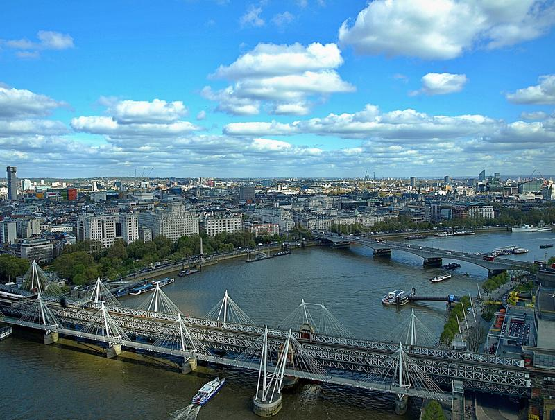 Mooi satellietbeeld van Londen in Engeland royalty-vrije stock foto's