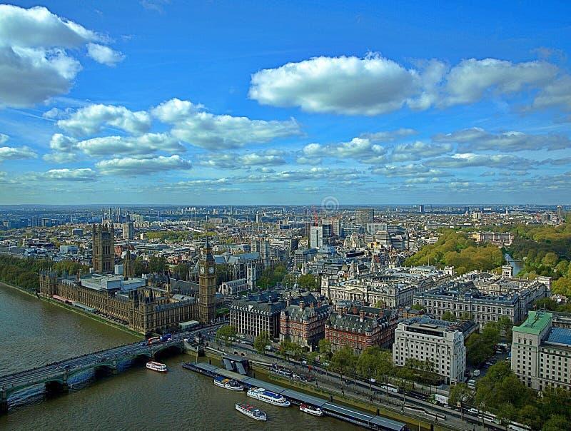 Mooi satellietbeeld van Londen in Engeland stock foto's