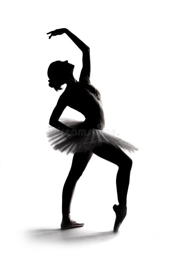 Mooi schaduwsilhouet van ballerina 1 royalty-vrije stock foto's