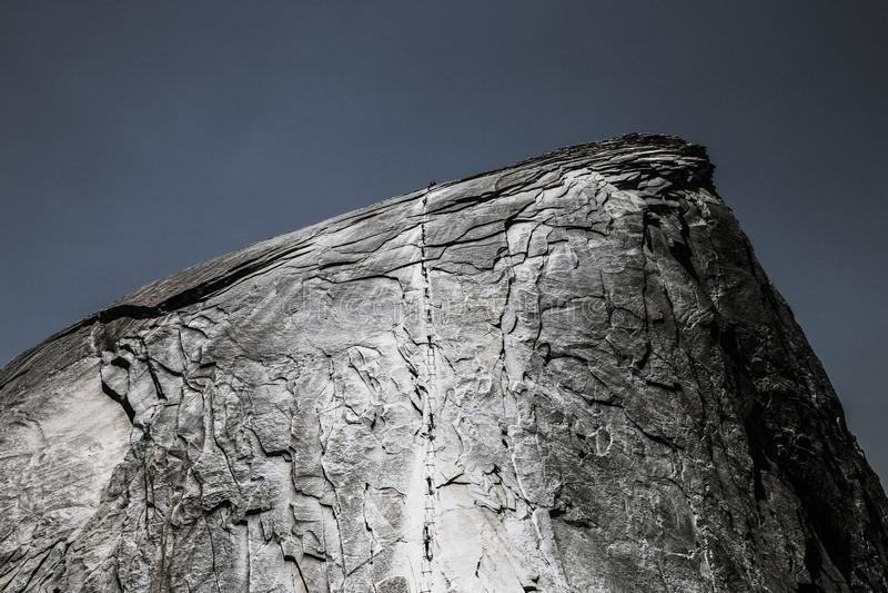 Mooi schot van rots met koele textuur stock afbeelding