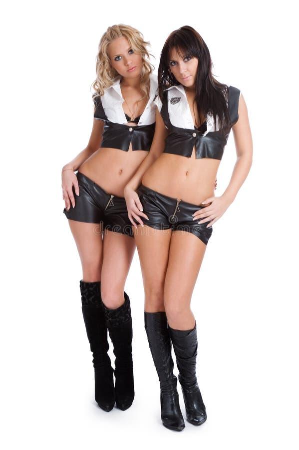 Mooi seksueel meisje twee royalty-vrije stock foto