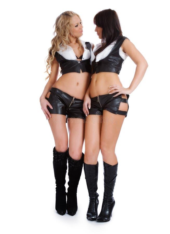 Mooi seksueel meisje twee royalty-vrije stock afbeeldingen