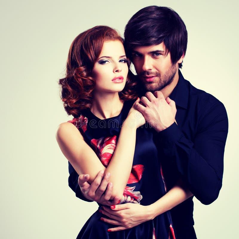 Mooi sexy paar in liefde royalty-vrije stock fotografie