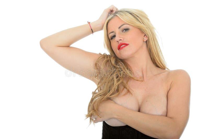 Download Mooi Sexy Verleidelijk Aantrekkelijk Jong Klassiek Blonde Pin Up Model Posing Topless Stock Afbeelding - Afbeelding bestaande uit beroep, vrouwelijk: 54090305