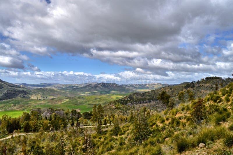 Mooi Siciliaans Landschap, Mazzarino, Caltanissetta, Italië, Europa stock foto