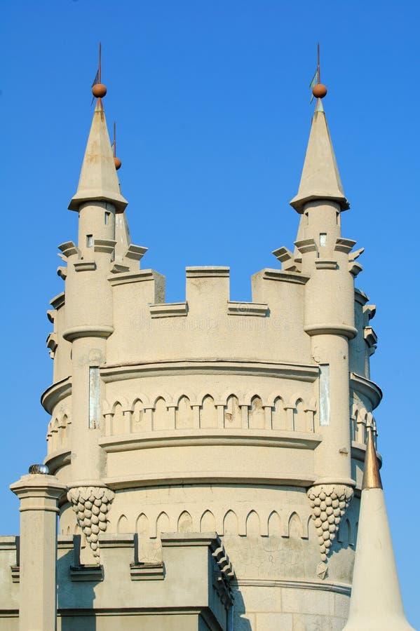 Mooi slikten Nestkasteel op de Rots, de Krim, de Oekraïne royalty-vrije stock afbeelding