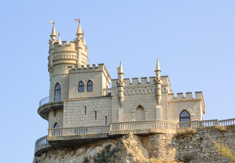 Mooi slikten Nestkasteel op de Rots, de Krim, de Oekraïne royalty-vrije stock foto's