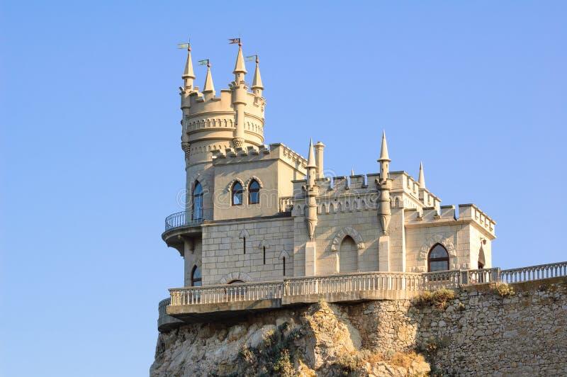 Mooi slikten Nestkasteel op de Rots, de Krim, de Oekraïne stock foto