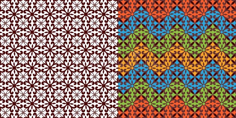 Mooi Stammenweefselpatroon vector illustratie