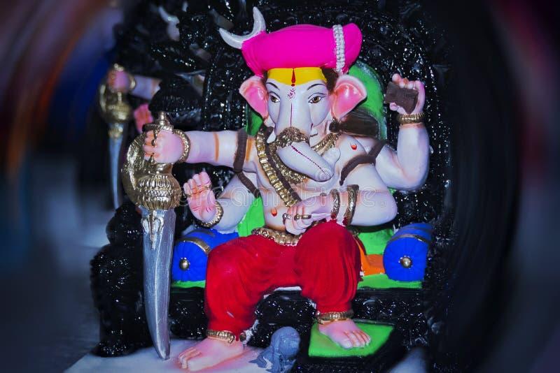 Mooi standbeeld van Lordganesha stock afbeeldingen