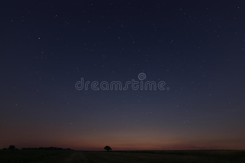 Mooi Stergebied bij zonsondergang stock afbeeldingen