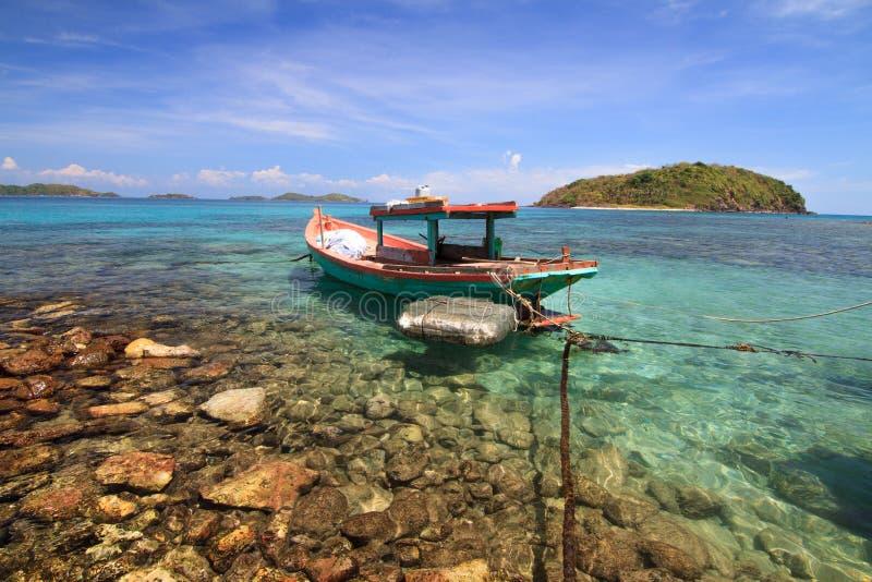 Mooi strand bij Nam Du-eilanden, Vietnam royalty-vrije stock foto