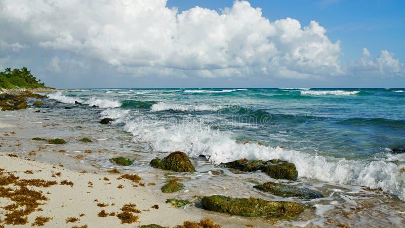 Mooi Strand in Cancun Mexico royalty-vrije stock afbeelding