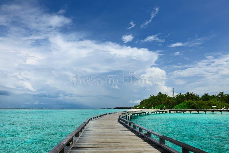Download Mooi strand met pier stock foto. Afbeelding bestaande uit blauw - 29504340