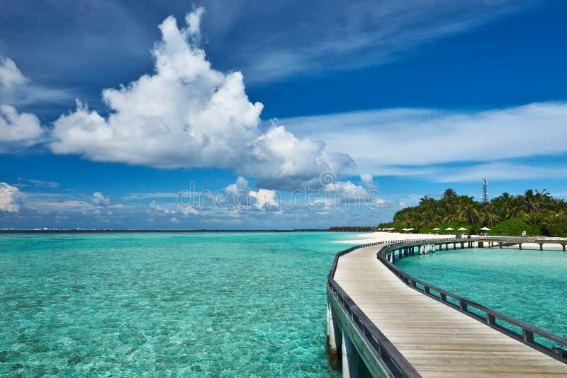 Download Mooi strand met pier stock foto. Afbeelding bestaande uit zuiden - 29504620