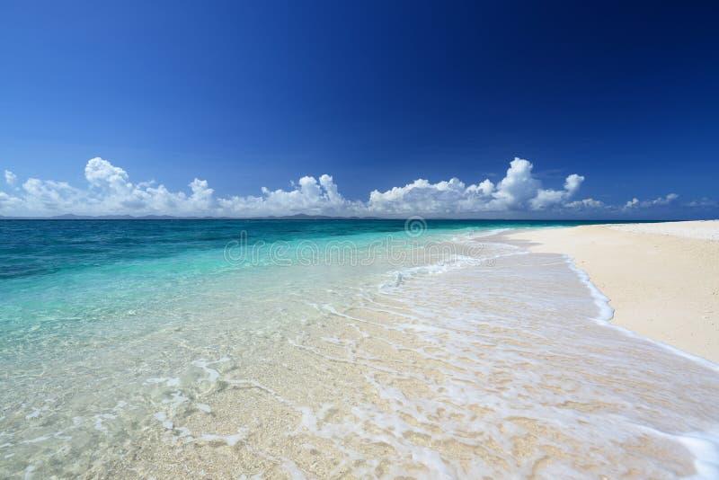 Mooi strand in Okinawa royalty-vrije stock afbeelding
