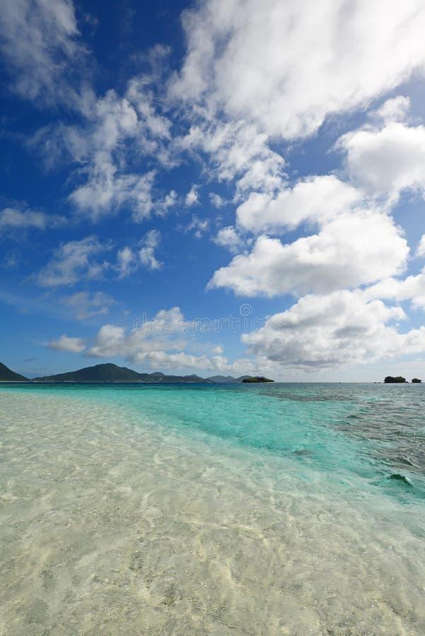 Mooi strand in Okinawa royalty-vrije stock afbeeldingen