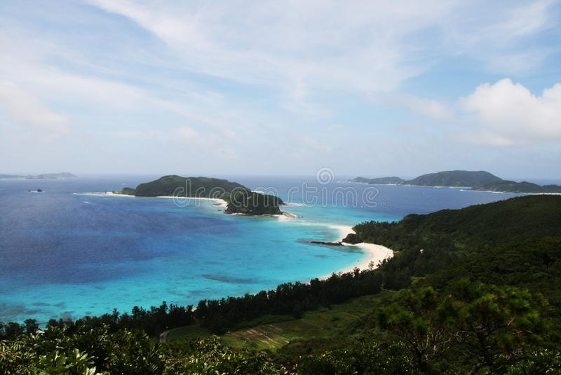 Mooi strand in Okinawa royalty-vrije stock foto