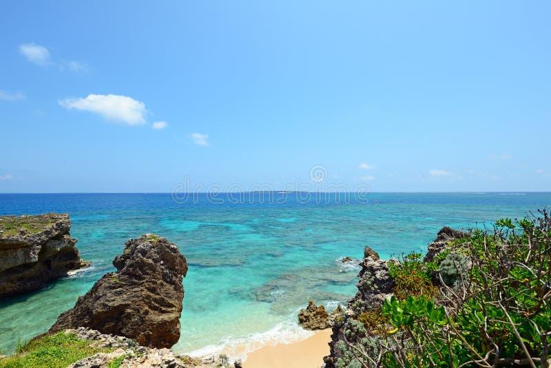 Mooi strand in Okinawa royalty-vrije stock foto's