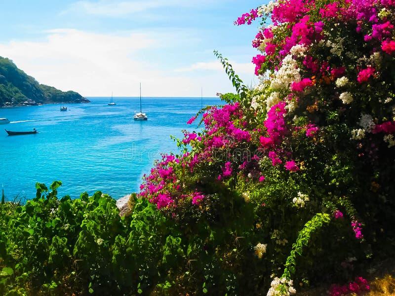 Mooi strand op een tropisch eiland Koh Racha Yai stock afbeeldingen