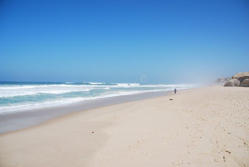 Mooi strand in Praia del Rey royalty-vrije stock foto