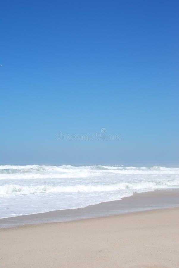 Mooi strand in Praia del Rey royalty-vrije stock afbeelding