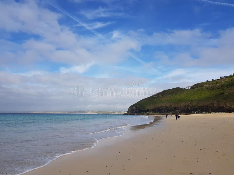 Mooi strand in St Ives in Cornwall stock afbeelding