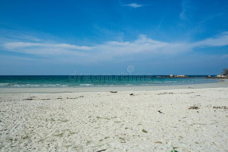 Mooi strand, Trikora, Bintan eiland-Indonesië stock foto's
