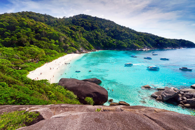 Mooi strand van Eilanden Similan stock afbeelding