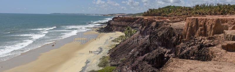 Mooi strand van Praia do Amor dichtbij Pipa, Brazilië royalty-vrije stock fotografie