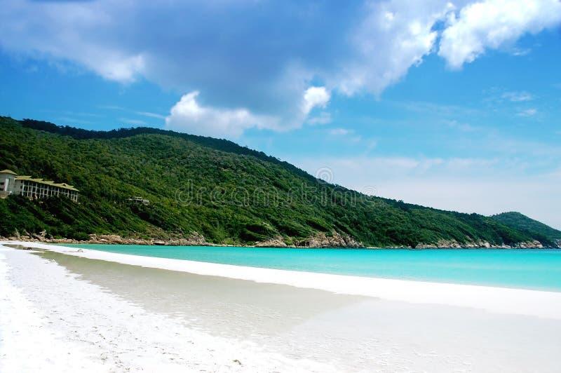 Mooi strandlandschap royalty-vrije stock foto