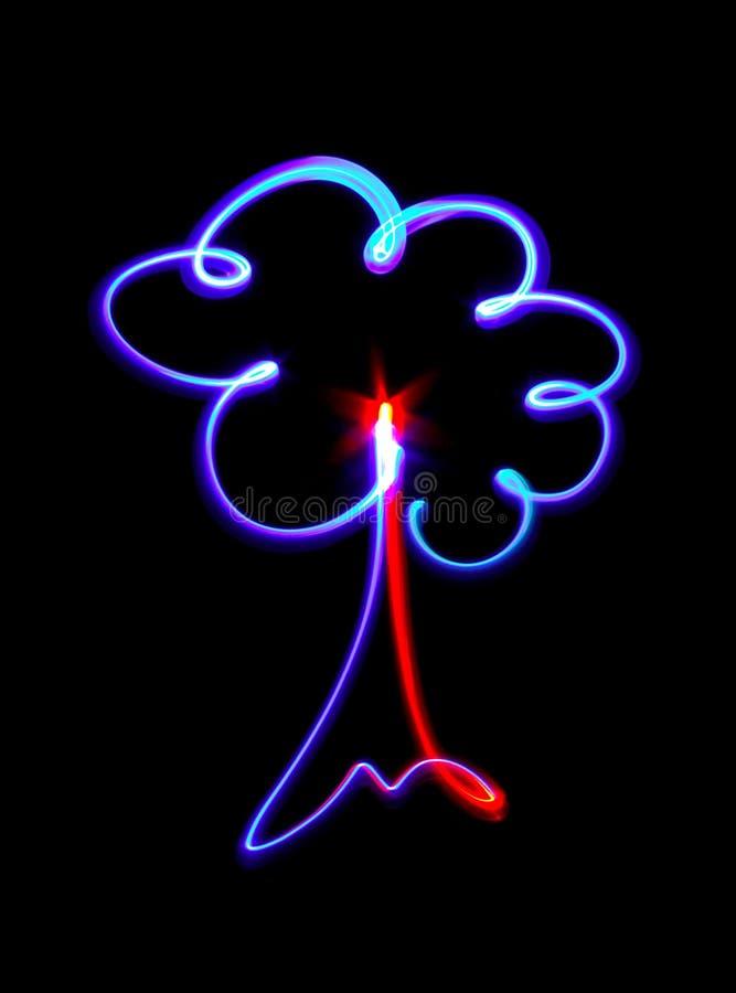 Mooi symbool van een boom stock fotografie