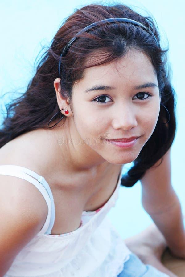 Mooi teenaged meisje van Thailand royalty-vrije stock afbeelding