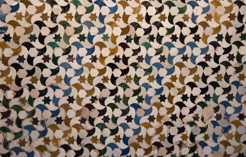 Mooi tegeldetail van Alhambra Palace, Spanje stock illustratie