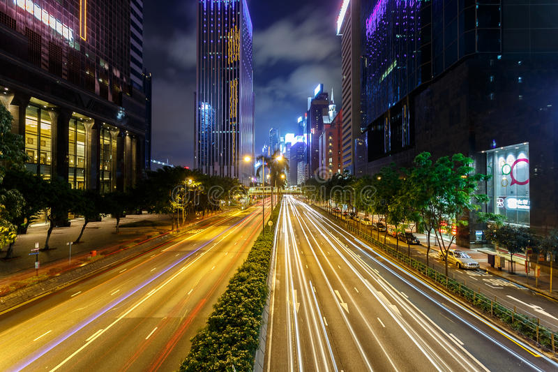Mooi ter Kong bij nacht toe stock afbeeldingen