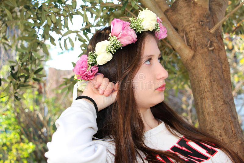 Mooi tienermeisje royalty-vrije stock fotografie