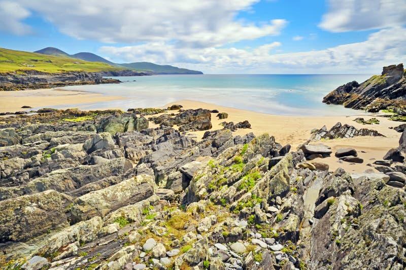 Mooi toneel landelijk landschap van Ierland royalty-vrije stock fotografie