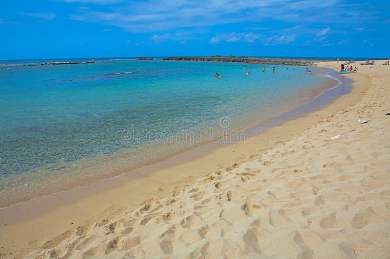 Mooi tropisch Kaanapali-Strand in Maui Hawaï royalty-vrije stock afbeelding