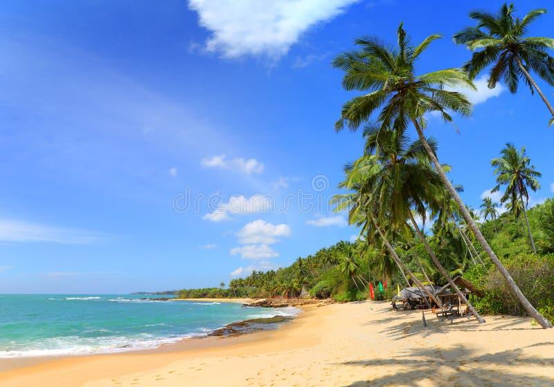 Mooi tropisch strandlandschap royalty-vrije stock afbeelding