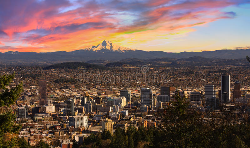 Mooi Uitzicht van Portland, Oregon royalty-vrije stock afbeelding