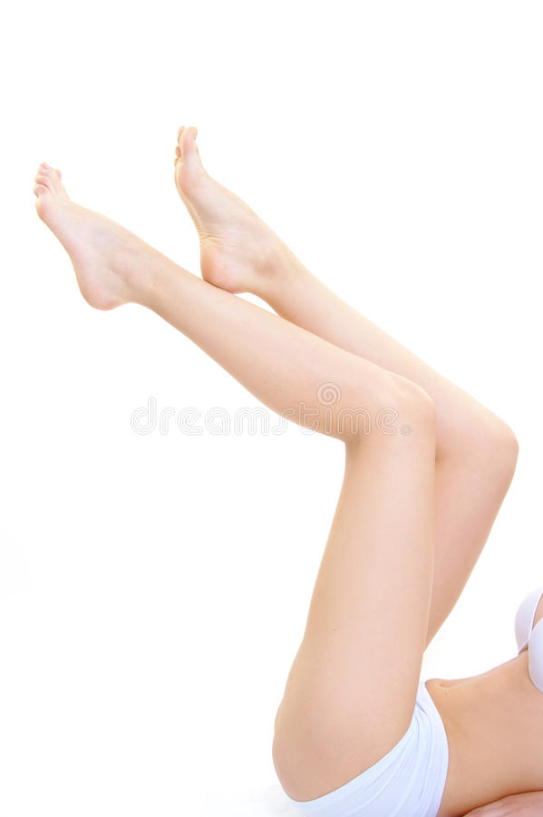 Mooi van de het beenhuid van het meisjeslichaam perfect de zorgconcept stock foto