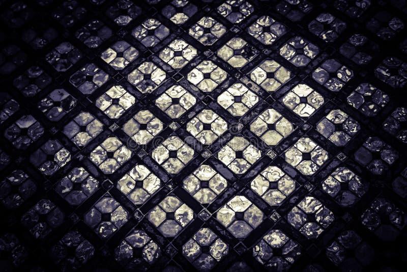 Mooi van het de kleurenglas van de close-up abstract textuur de stukkenachtergrond en kunstontwerp royalty-vrije stock foto's