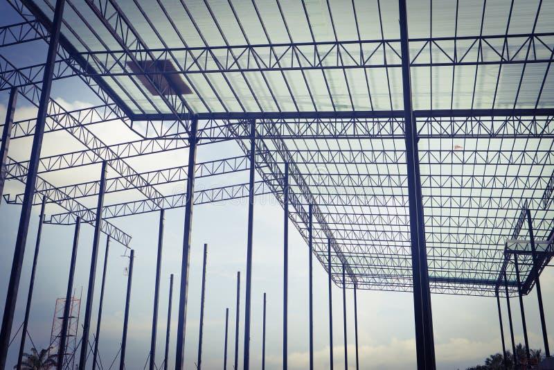 Mooi van het het staalkader van het close-upmetaal de bouwconstructieontwerp royalty-vrije stock afbeeldingen