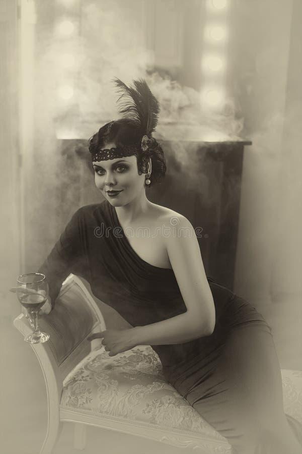 Mooi Vinmeisje royalty-vrije stock afbeelding