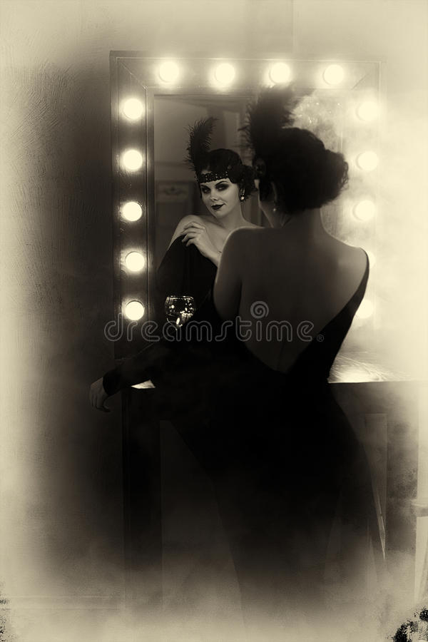 Mooi Vinmeisje royalty-vrije stock fotografie
