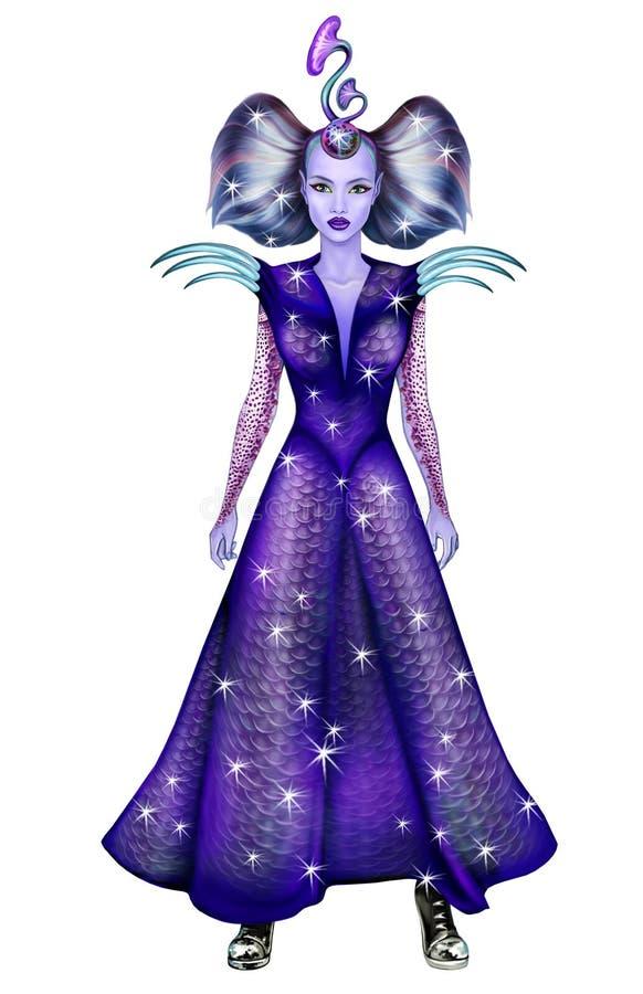 Mooi vreemd meisje royalty-vrije illustratie