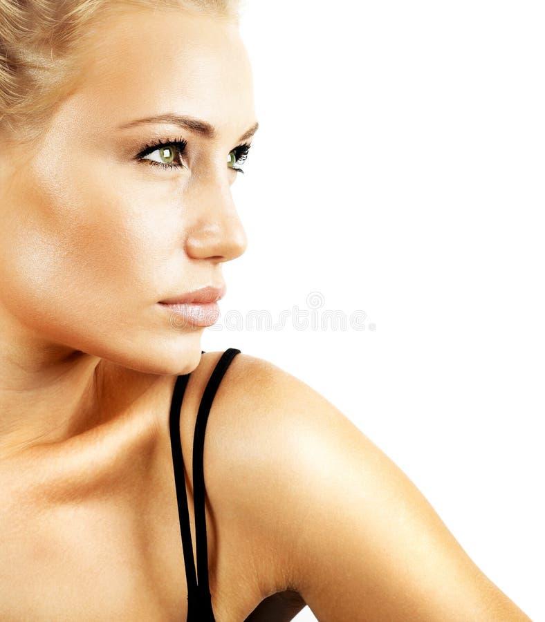 Mooi vrouwelijk gezicht stock fotografie