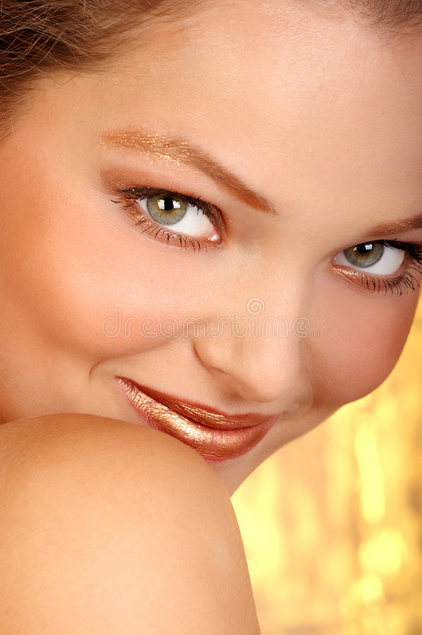 Mooi vrouwengezicht royalty-vrije stock afbeelding
